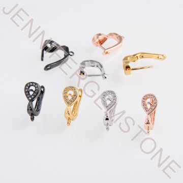 Earrings-A00588 Black, Gold, Rose, Silver